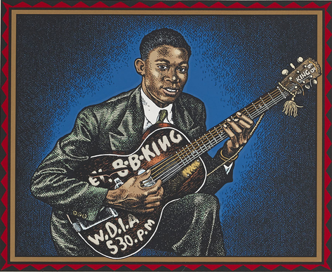 BB King portrait by Robert Crumb