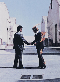 PinkFloyd Wish You Were Here Album Cover by Hipgnosis