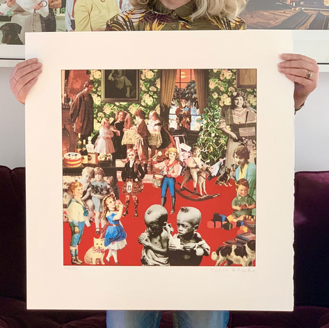 Band Aid Do they know it's christmas album cover by Sir Peter Blake art print