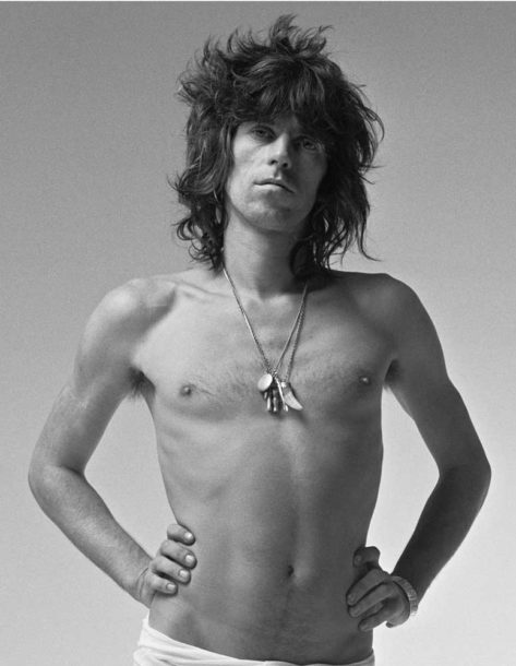Keith Richards studio portrait by Hipgnosis 1973